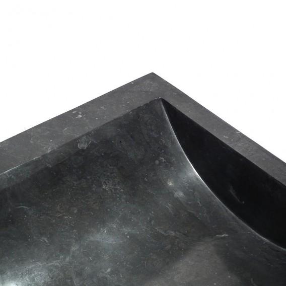 Lavabo marbre noir 45cm carrée