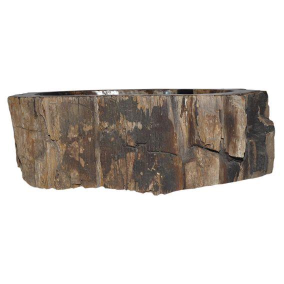 Petit lavabo bois fossilisé 1020PWO-BW-02S