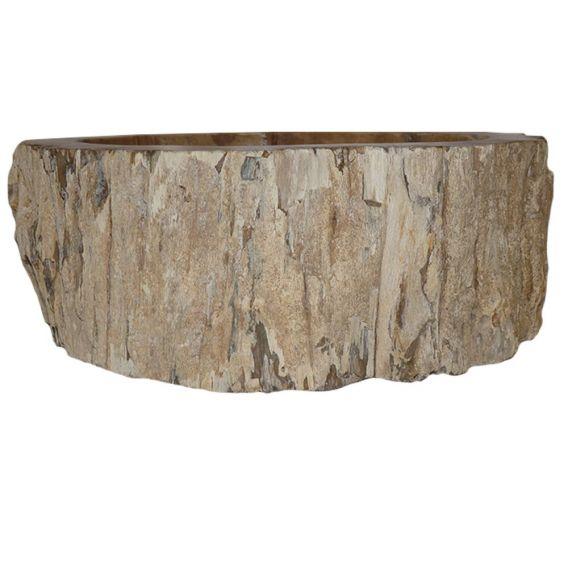 Petit lavabo bois fossilisé 1020 PWOBR-02S