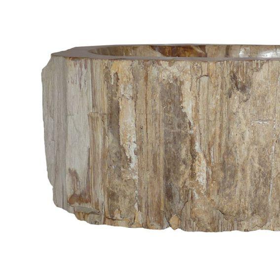 Lave-mains bois fossilisé 1020PWO-BR-03S