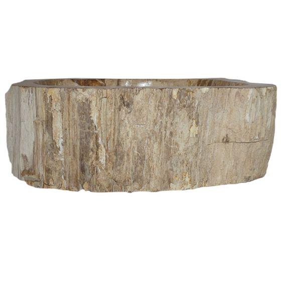 Petite vasque bois fossilisé 1020PWO-BR-03S