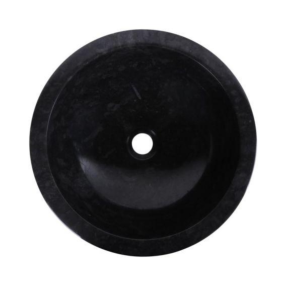 Vasque marbre ronde Ø40cm noire KC-D