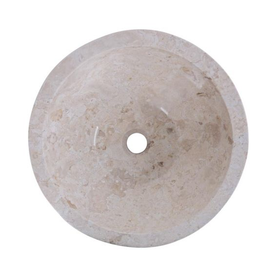 Vasque marbre ronde creme Ø40cm brute MR-M