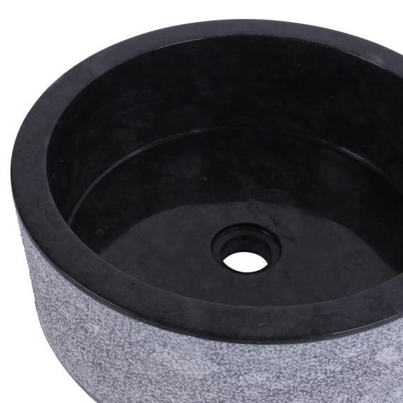 Vasque marbre cylindre Ø40cm noire SL-D