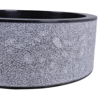 Vasque marbre à poser Ø40cm points SL-D