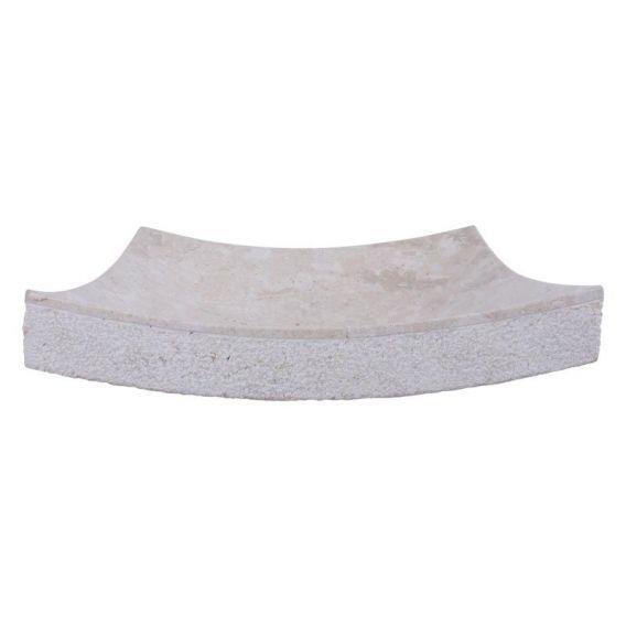 Vasque marbre creme 40cm points SZB-D