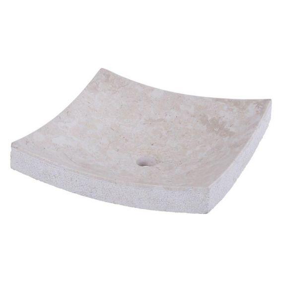 Vasque marbre carrée 40cm points SZB-D