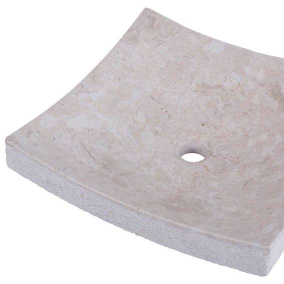 Vasque marbre à poser 40cm points SZB-D