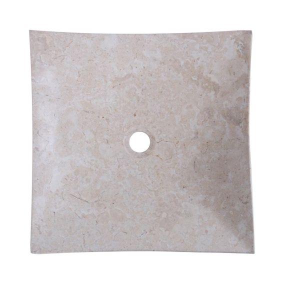 Vasque marbre carrée 40cm creme SZB-D
