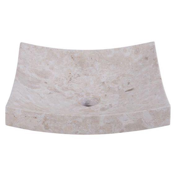 Vasque marbre à poser 40cm lisse SZB-P