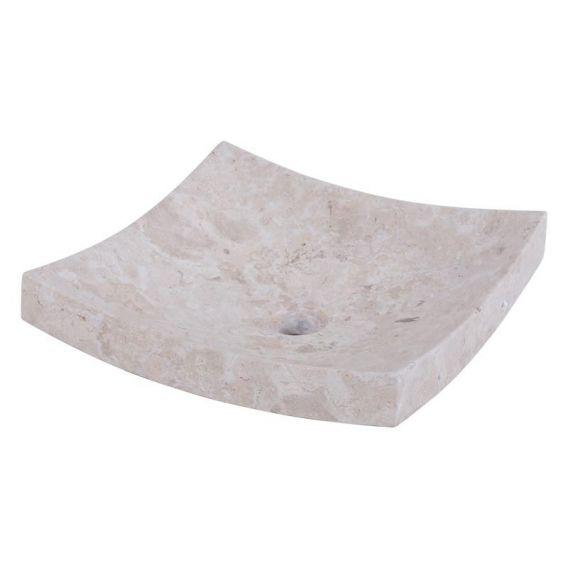 Vasque marbre creme 40cm lisse SZB-P