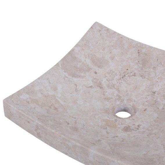 Vasque marbre salle de bain 40cm lisse SZB-P