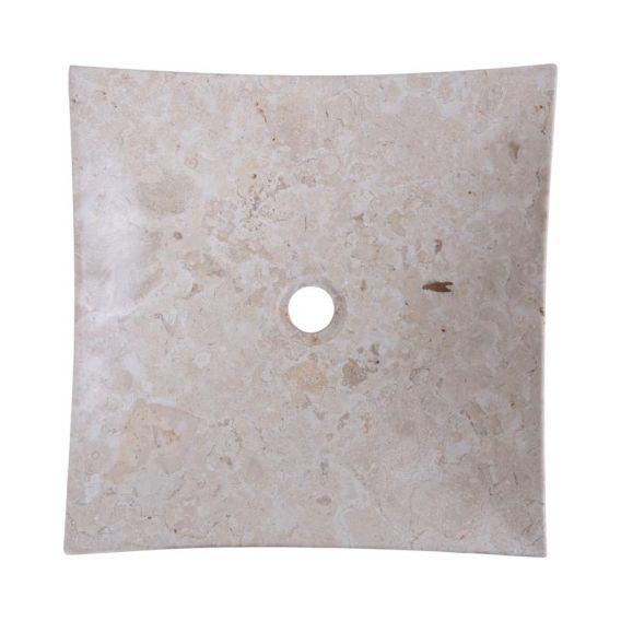 Vasque marbre beige 40cm lisse SZB-P