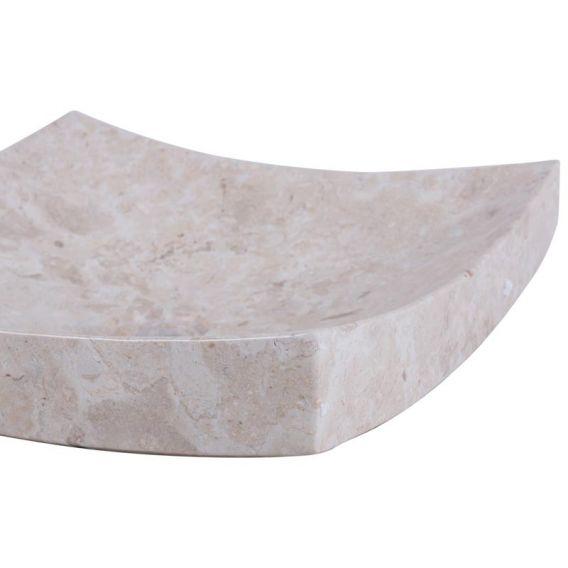 Vasque marbre carrée 40cm lisse SZB-P