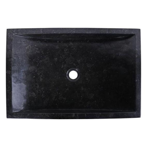 Vasque marbre noire 60cm points RSB-D