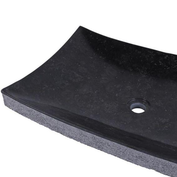 Vasque marbre noire 60cm points RZB-D