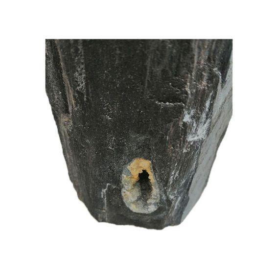 Distributeur de savon en bois fossilisé noir