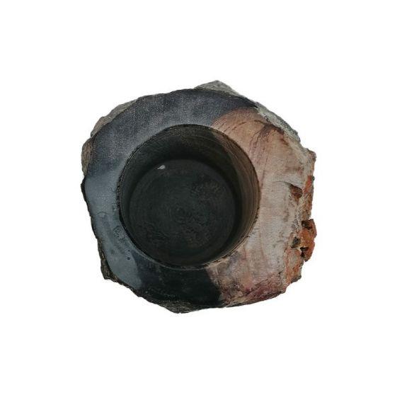 Gobelet en bois fossilisé naturel