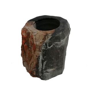 Gobelet en bois fossilisé noir