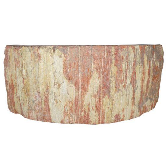 petite vasque bois pétrifié PWO-BW-01S