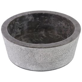 Vasque marbre noire design Ø40cm points LY-D