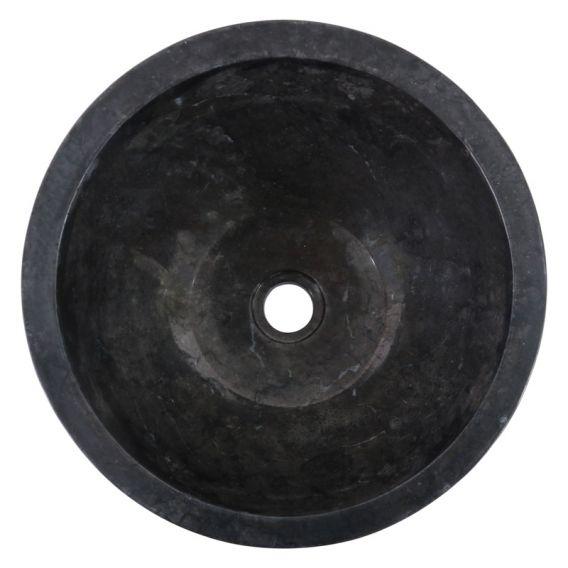 Vasque marbre oeuf ronde Ø40cm points MR-D