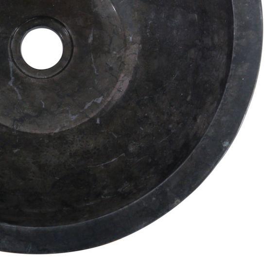 Vasque marbre noire ronde Ø40cm points MR-D
