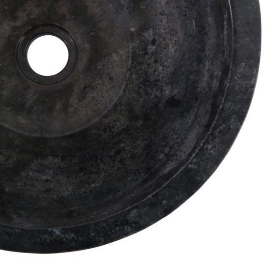 Vasque marbre noire à poser Ø40cm traits MR-G