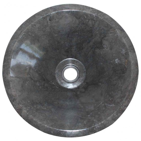 Vasque marbre noire conique Ø40cm lisse KL-P
