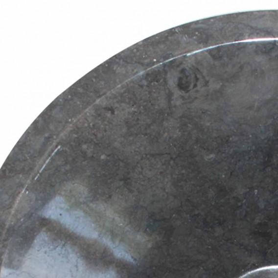 Vasque marbre noire Ø40cm lisse KL-P