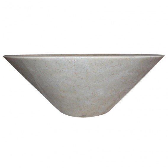 Vasque marbre beige Ø40cm lisse KL-P