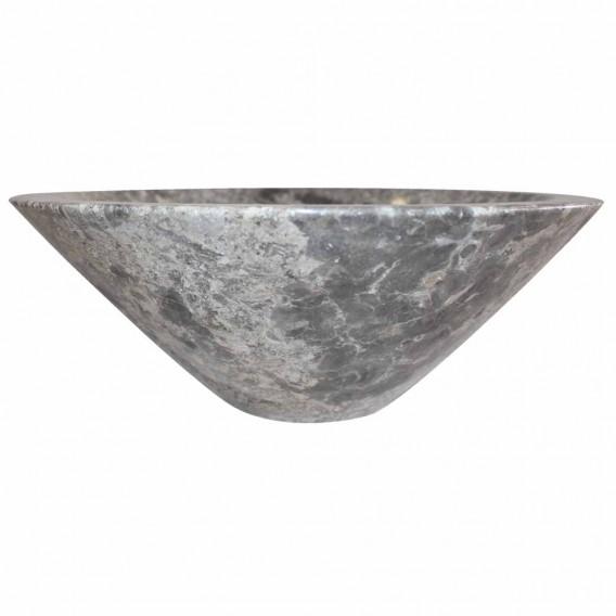 Vasque marbre grise Ø40cm lisse KL-P