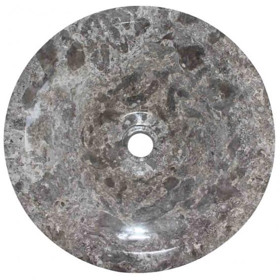 Vasque marbre grise Ø40cm points KL-D