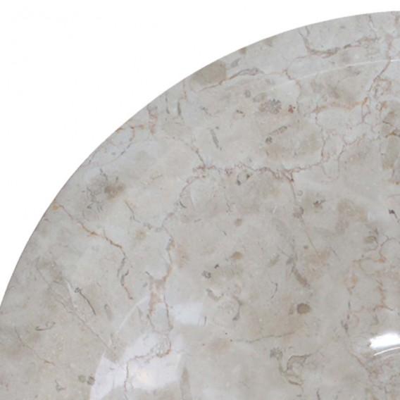 Vasque marbre beige Ø40cm points KL-D