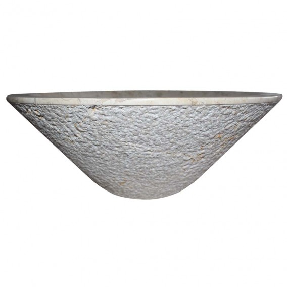 Vasque marbre design cone Ø40cm points KL-D