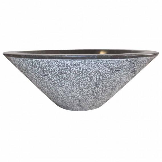 Vasque marbre noire Ø40cm points KL-D