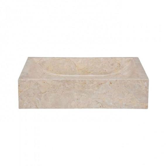 Vasque marbre 50cm rectangulaire beige MAFSG