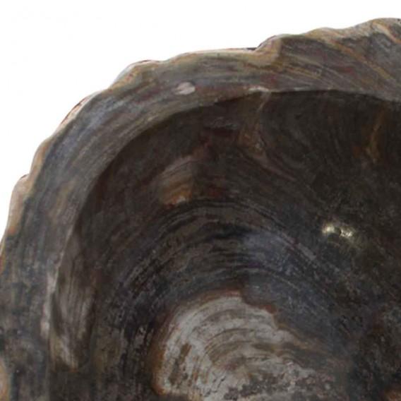 Vasque colonne bois pétrifié PPW-B