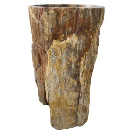 Vasque sur pied bois pétrifié PPW-B