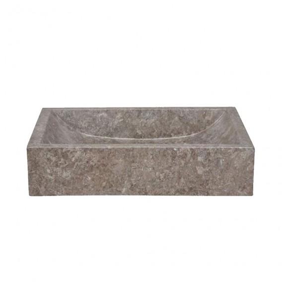 Vasque marbre 50cm rectangulaire grise MAFSG