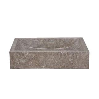 Vasque marbre rectangulaire 50cm lisse MAFS