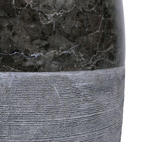 colonne marbre noire Ø40cm design PGT-G
