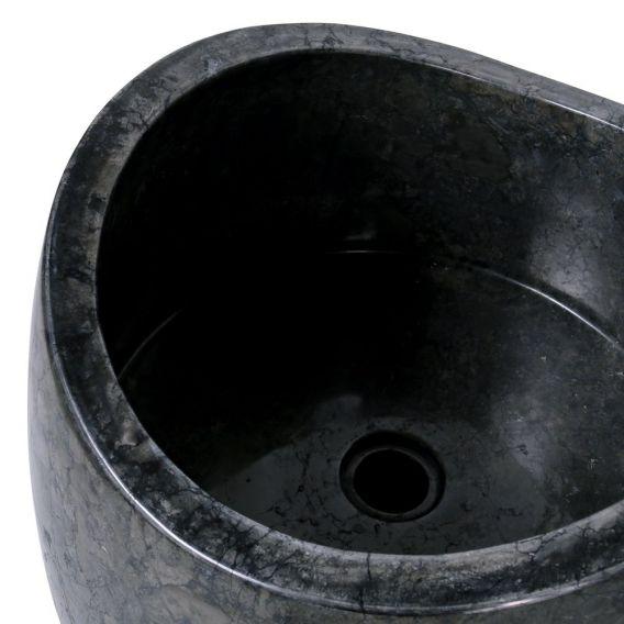 Vasque salle de bain noire marbre Ø40cm design PGT-G