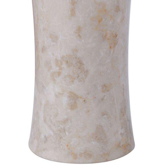 Distributeur de savon en marbre modèle C blanc