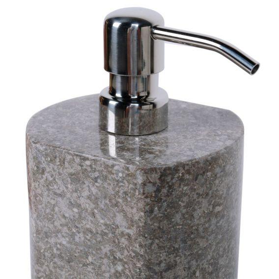 pousse savon en marbre modèle A gris