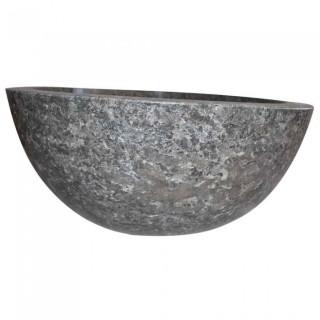 Vasque marbre polie grise Ø40cm lisse MR-P