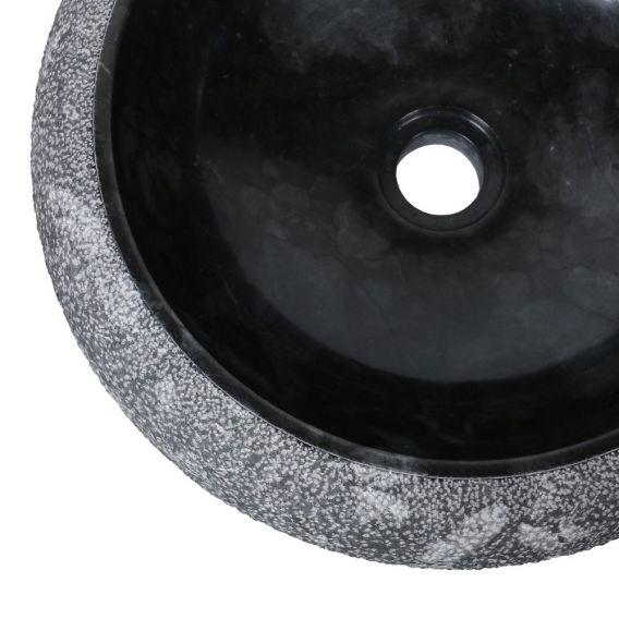 Vasque marbre rond Ø40cm points DN-D noir