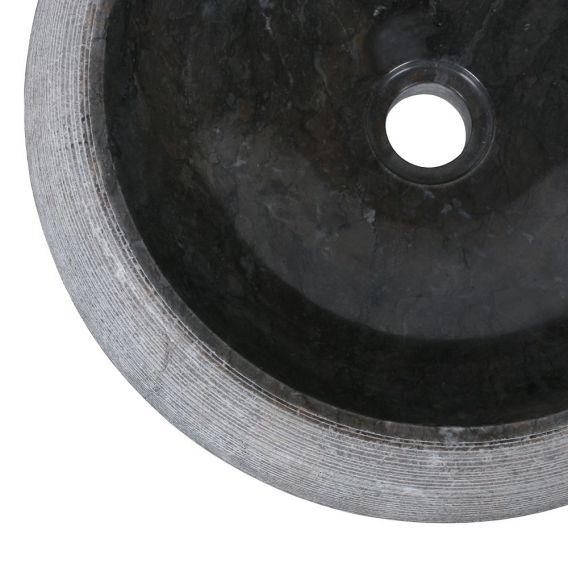 Vasque marbre ronde Ø40cm traits DN-G noire