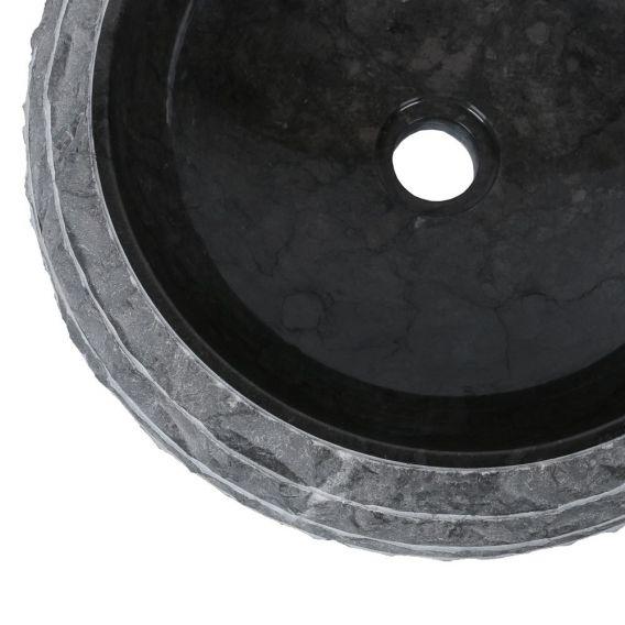 Vasque marbre boudin Ø40cm brute DN-M noir