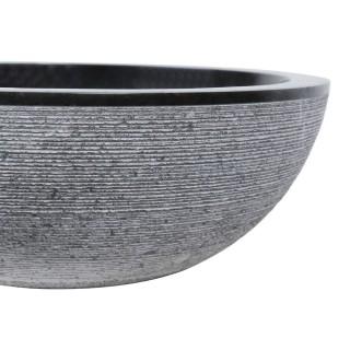 Vasque marbre design Ø40cm traits KC-G noire
